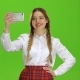Schoolgirl Makes a Selfie - VideoHive Item for Sale