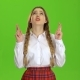 Girl Crossed Her Fingers Green Screen - VideoHive Item for Sale