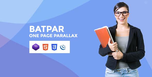 Batpar - One Page Parallax