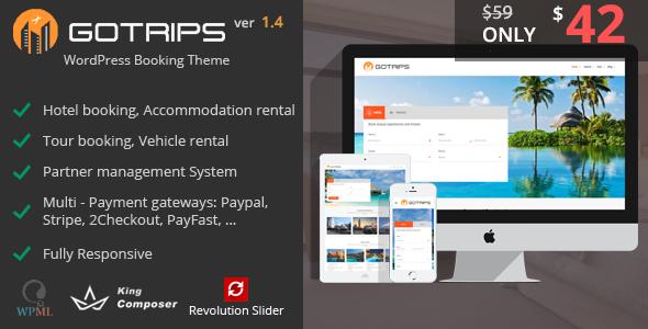 Gotrips | WordPress Booking Theme
