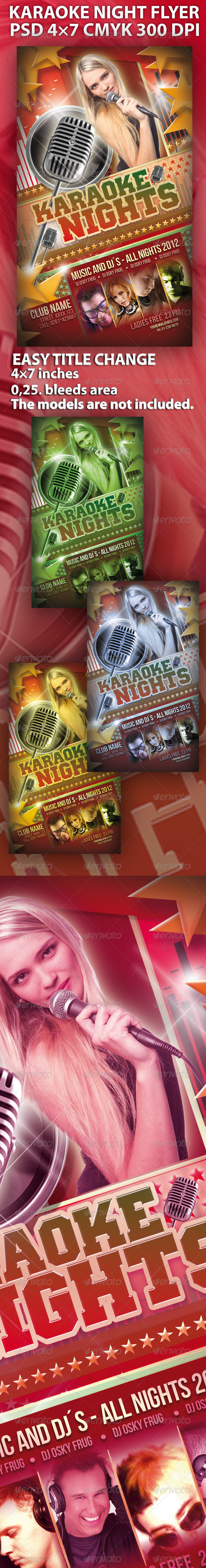 Karaoke Night Flyer - Clubs & Parties Events