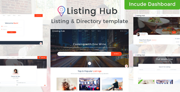 Listing Hub - Directory & Listings HTML Template