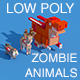 Low Poly Zombie Animals Crossy Road - 3DOcean Item for Sale