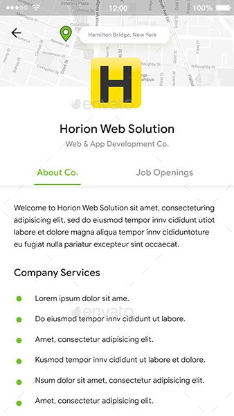 Job Search App UI Set | Jobber