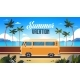 Summer Vacation Surf Bus Sunrise Tropical Beach - GraphicRiver Item for Sale