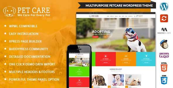 PetCare - WordPress Multipurpose Theme - Retail WordPress