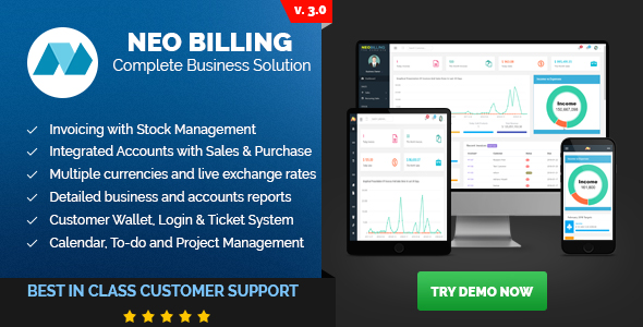 Neo Billing - Accounting, Invoicing And CRM Software - CodeCanyon Item for Sale
