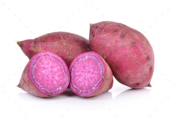 sweet potato on the white background - Stock Photo - Images