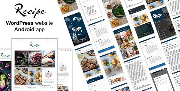Android Recipe App with WordPress Theme - CodeCanyon Item for Sale