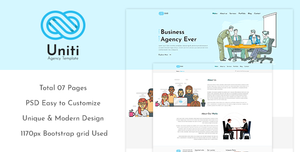 Unity - Corporate/Agency PSD Template