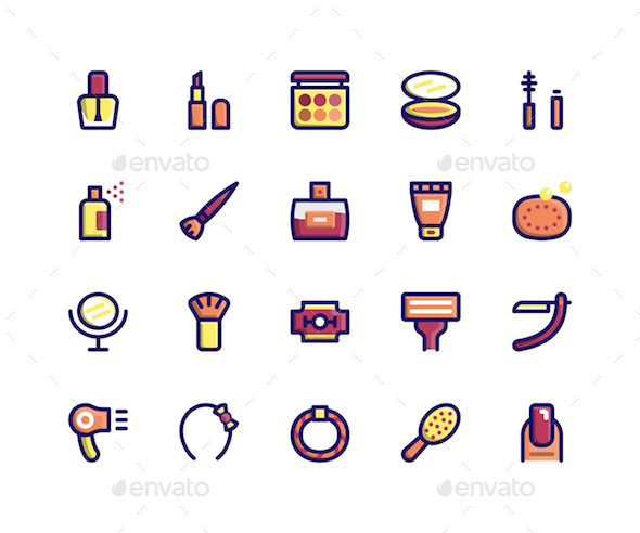 Beauty Filled Line Icons - Icons