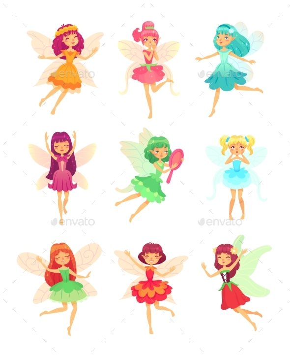 Cartoon Fairy Girls - Miscellaneous Characters