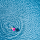Aerial view of young woman swimming in the sea with transparent - PhotoDune Item for Sale
