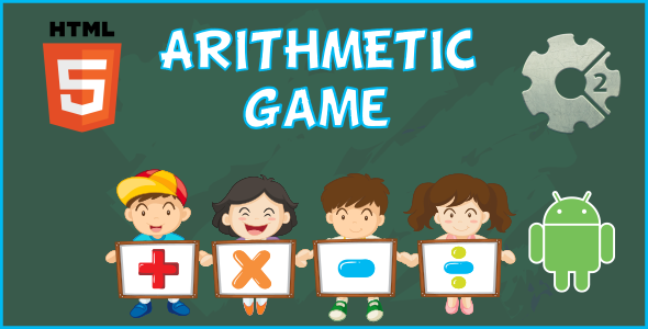 Arithmetic HTML5 Game  (CAPX) - CodeCanyon Item for Sale