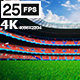 Red Flying On Grass In Stadium 4K - VideoHive Item for Sale