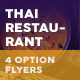 Thai Restaurant Menu Flyers 5 – 4 Options - GraphicRiver Item for Sale