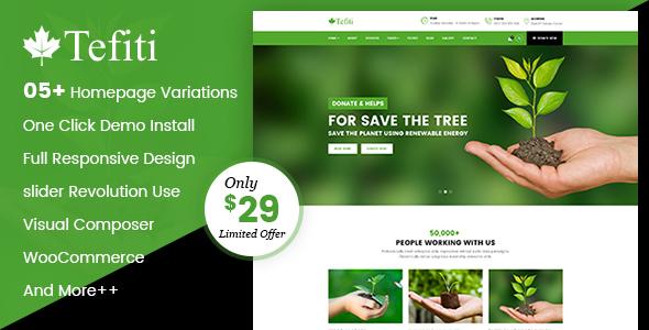 Image of Tefiti- Environment & Ecology WordPress Theme