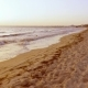 Sea Waves on Sand at Evening Beach - VideoHive Item for Sale