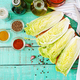 Chinese cabbage. Preparation of ingredients for kimchi cabbage.  - PhotoDune Item for Sale