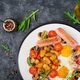 fried egg, beans, tomatoes, mushrooms, bacon and sausage. - PhotoDune Item for Sale