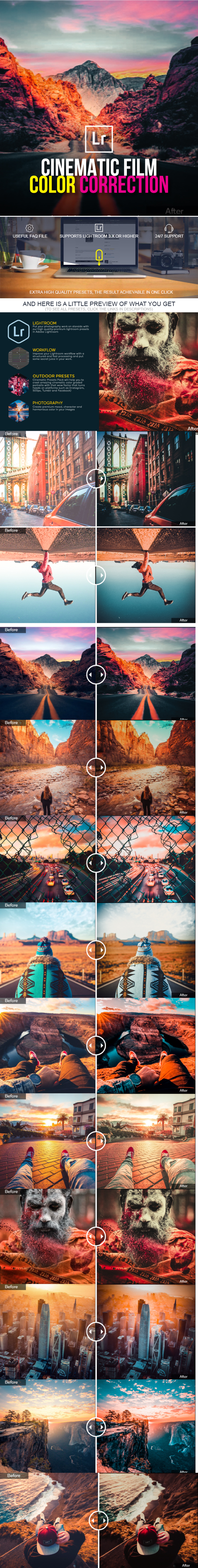 21 Trending Color Grading Lightroom Presets - Cinematic Lightroom Presets