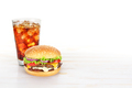Hamburger and glass of cola - PhotoDune Item for Sale