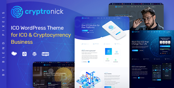 Image of Cryptronick | WordPress Theme for ICO & Cryptocurrency Business
