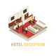 Hotel Reception Isometric Composition