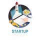 Entrepreneur Start Up Isometric Composition