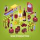 Wine Production Isometric Illustration