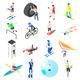 Extreme Sports Isometric Icons