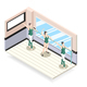 Ballet Training Isometric Design Concept