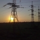 Sunset and High-voltage Power Pylon - VideoHive Item for Sale