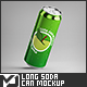 Long Soda Can Mock-Up - GraphicRiver Item for Sale