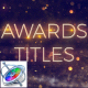 Award Show Titles - Apple Motion - VideoHive Item for Sale