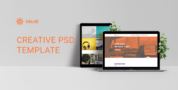 Value - Creative Corporate PSD Template - Corporate PSD Templates