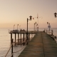 Walk on the Pier To the Sea,  Earlier Morning at Sunrise - VideoHive Item for Sale