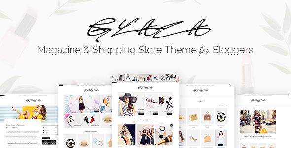 Glaza - Magazine & Shopping Store Theme for Bloggers - News / Editorial Blog / Magazine