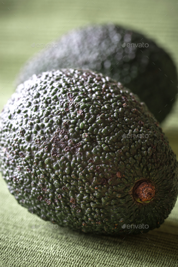 Hass avocados close up