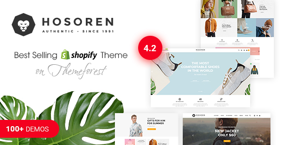 Image of Hosoren - Responsive Shopify Theme (Sections Ready)