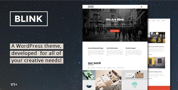 Blink - Parallax One Page WordPress Theme - Portfolio Creative
