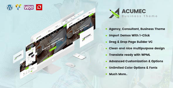 Image of Acumec - Business Multipurpose WordPress Theme