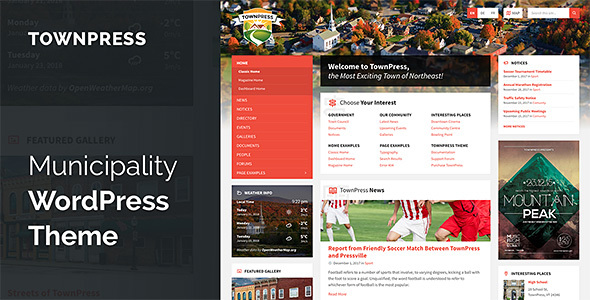 Image of TownPress - Municipality WordPress Theme