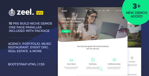 Image of Zeel - Multipurpose HTML Template