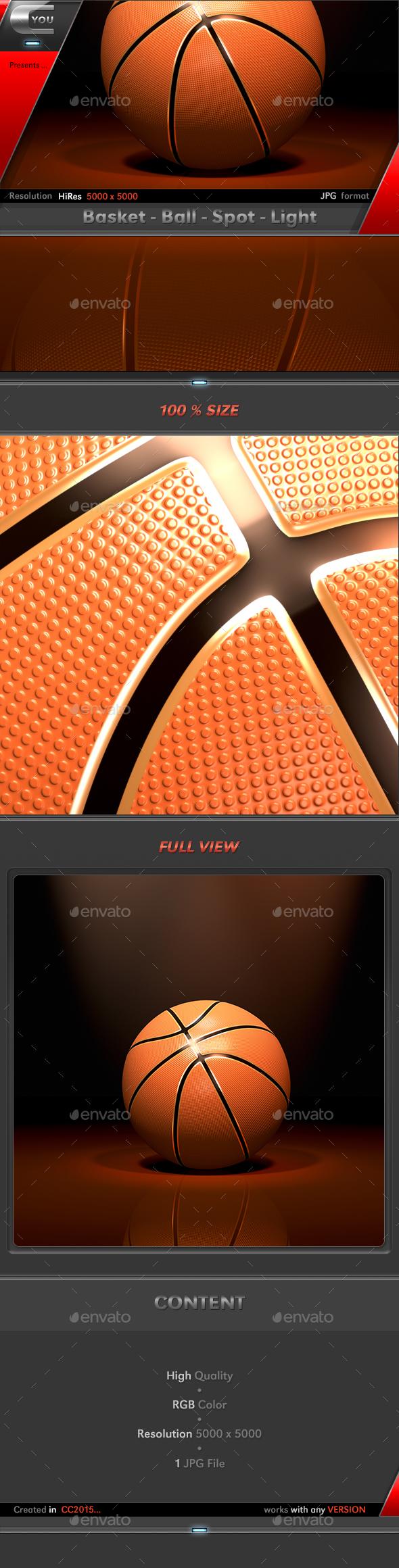 Basket Ball Spot Light - 3D Backgrounds