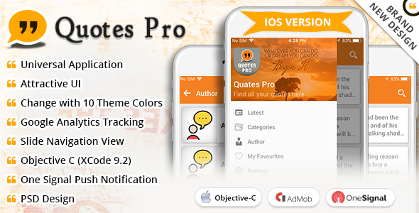 iOS Quotes Pro - CodeCanyon Item for Sale