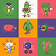 Flat Quirky Vegetable Characters Set
