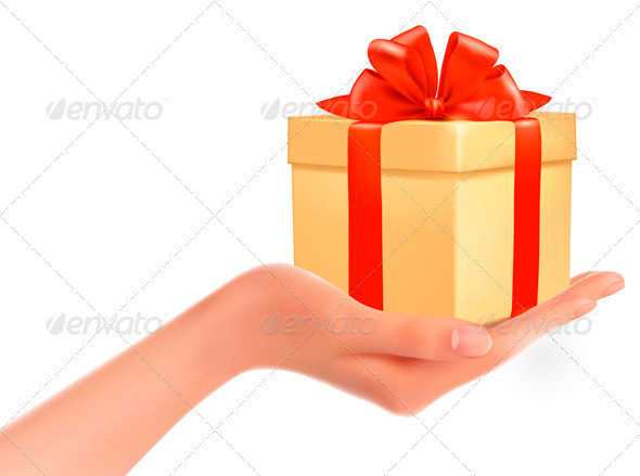 Gift Box in Hand - Seasons/Holidays Conceptual