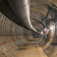 Large metro tunnel under construction with temporary ventilation - PhotoDune Item for Sale