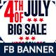 4th of July Facebook Ad Banner Design - 4 Design
